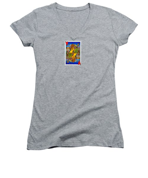 Jack Of Hearts Women's V-Neck (Athletic Fit)