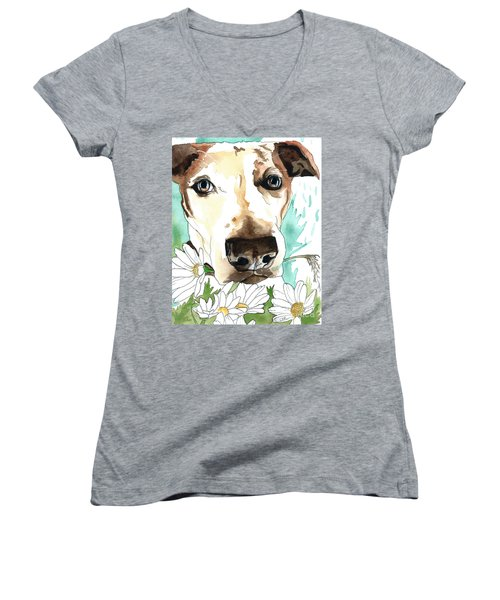 Gracie Jack Russell Women's V-Neck (Athletic Fit)