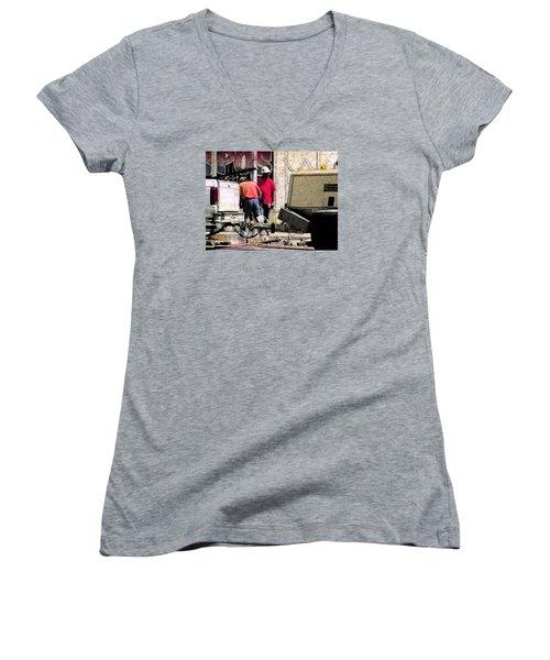 Jackhammer Women's V-Neck T-Shirt (Junior Cut)