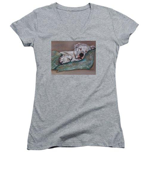 Jackson Women's V-Neck T-Shirt (Junior Cut) by Jean Cormier