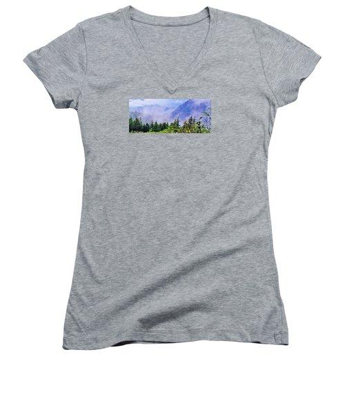 Jade Women's V-Neck T-Shirt (Junior Cut) by Martin Cline
