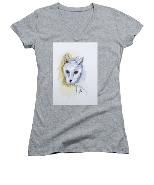 Jade The Cat Women's V-Neck (Athletic Fit)
