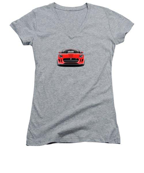 Jaguar F Type Women's V-Neck