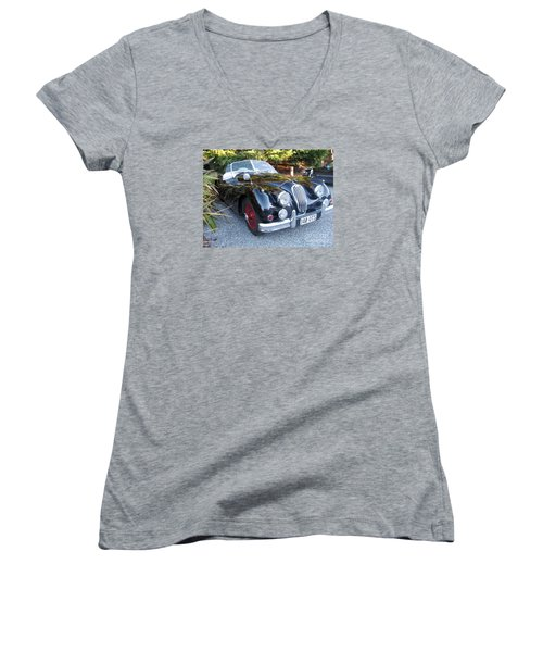 Jaguar140_ots Women's V-Neck T-Shirt (Junior Cut) by Kathryn Barry