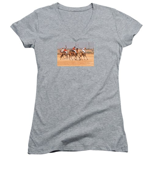 Jaisalmer Desert Festival-7 Women's V-Neck (Athletic Fit)