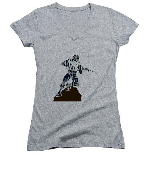 Jake Nomad Dunn Women's V-Neck T-Shirt (Junior Cut) by Ayse Deniz