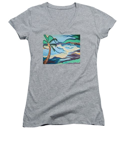 Jamaican Sea Breeze Women's V-Neck T-Shirt