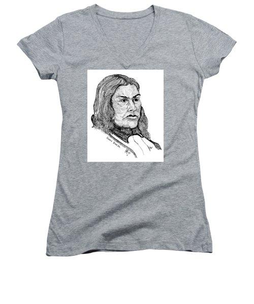 James Bird Jr Women's V-Neck T-Shirt