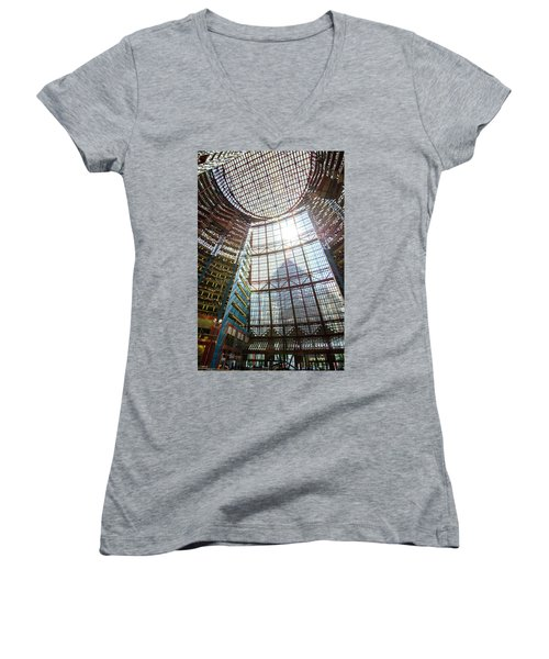 James R Thompson Center Interior II Chicago Women's V-Neck (Athletic Fit)