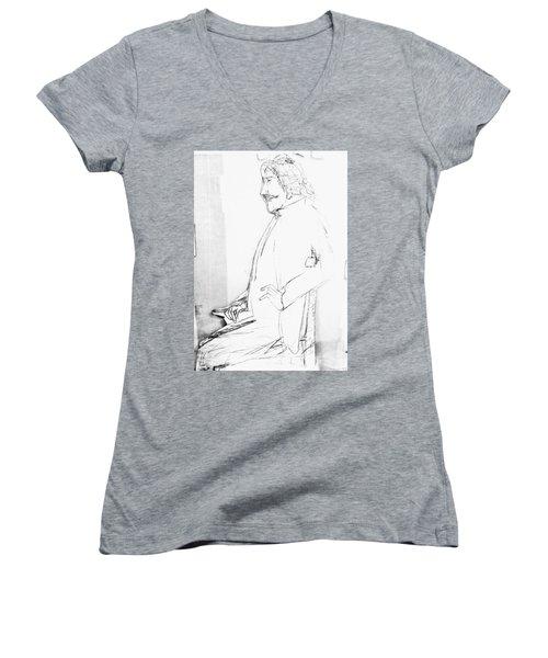 James Whistler's Portrait Women's V-Neck (Athletic Fit)