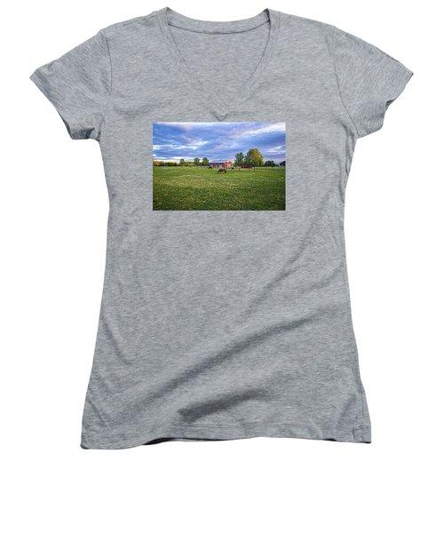 Jamesport Saddle Club Women's V-Neck T-Shirt