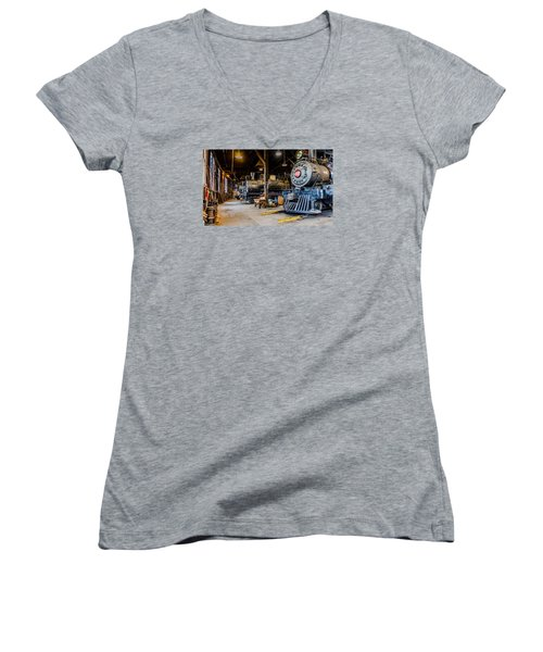 Jamestown Roundhouse Women's V-Neck (Athletic Fit)