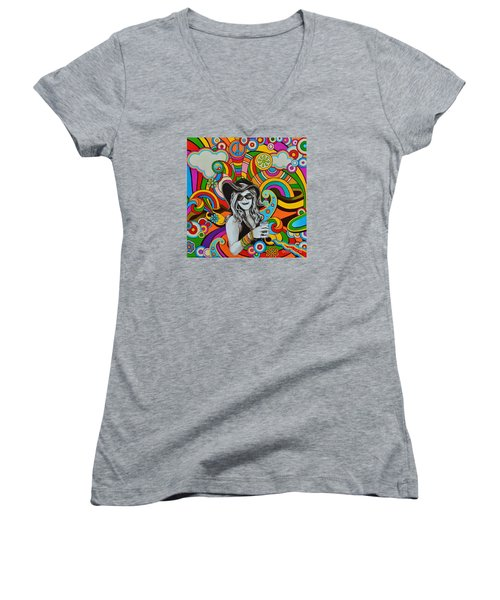 Janis In Wonderland Women's V-Neck (Athletic Fit)