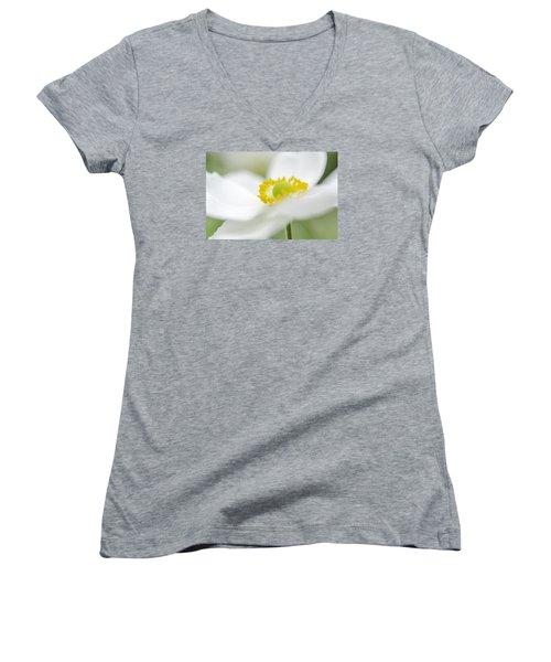 Japanese Anemone Women's V-Neck T-Shirt