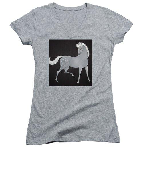 Japanese Horse 2 Women's V-Neck T-Shirt
