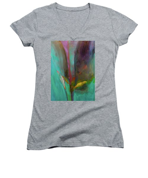 Japanese Longstem By Paul Pucciarelli The Second Women's V-Neck T-Shirt