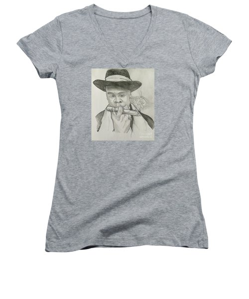 Jay-z Reasonable Doubt 20th Women's V-Neck T-Shirt (Junior Cut) by Gregory Taylor