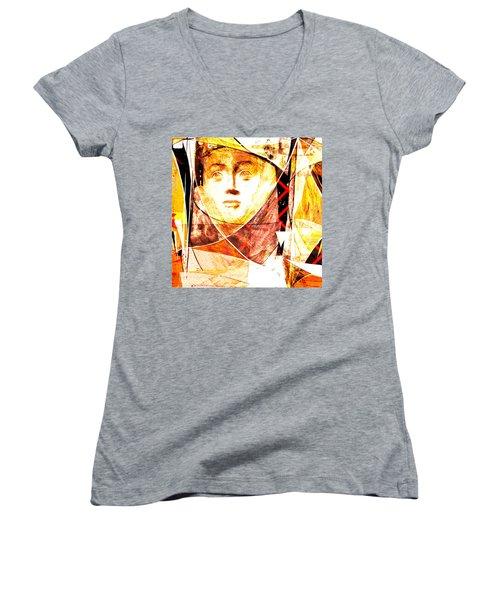 Je Aimerais Vivre Avec Vous Women's V-Neck T-Shirt