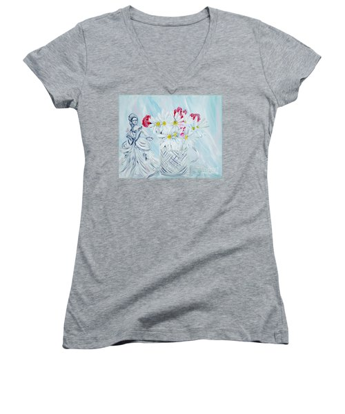 Je Vous Remerci. Thank You Collection Women's V-Neck (Athletic Fit)