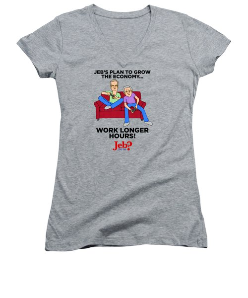 Jebbers Women's V-Neck T-Shirt (Junior Cut) by Sean Corcoran