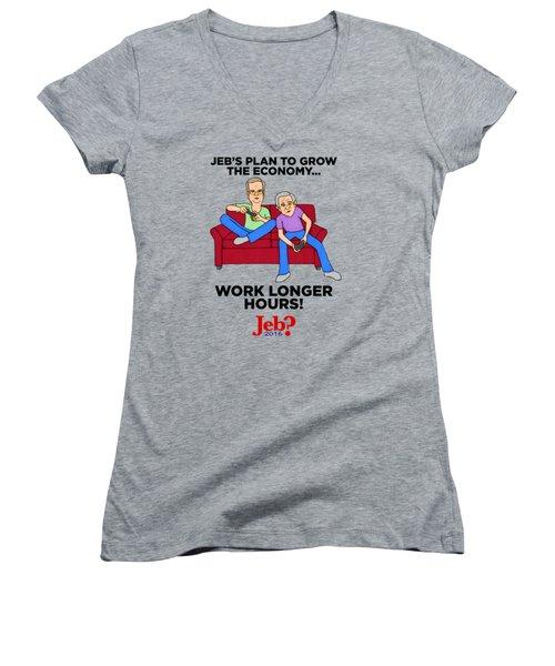 Jebbers Women's V-Neck T-Shirt (Junior Cut)