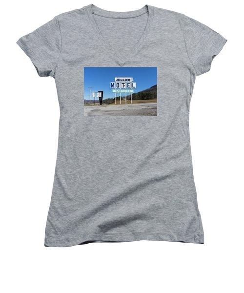 Jellico Motel Women's V-Neck (Athletic Fit)