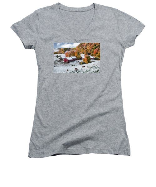 Jenne Farm, Reading, Vt Women's V-Neck T-Shirt
