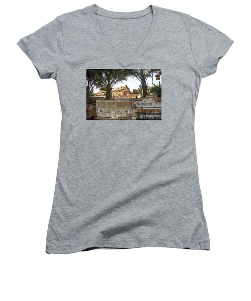 Women's V-Neck featuring the photograph Jerico by Mae Wertz