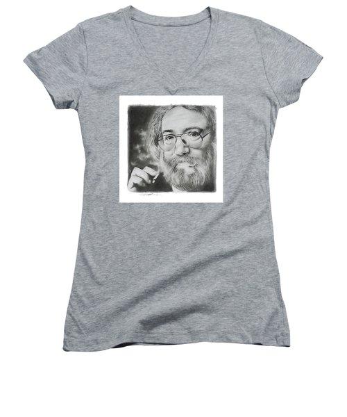 Jerry Garcia Women's V-Neck T-Shirt