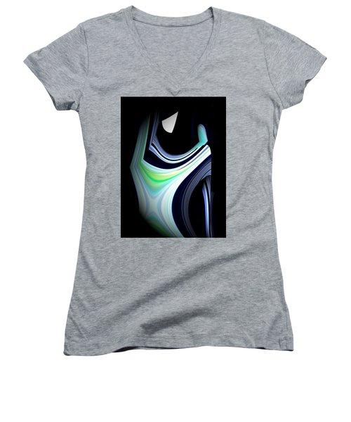 The Pilgrim Women's V-Neck T-Shirt (Junior Cut) by Thibault Toussaint