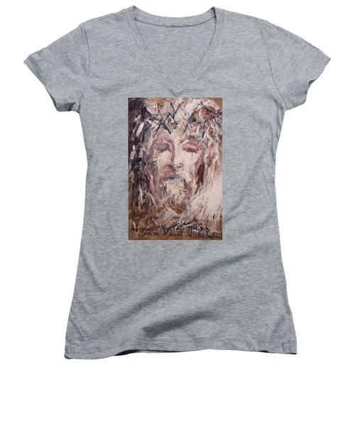 Jesus Christ Women's V-Neck T-Shirt