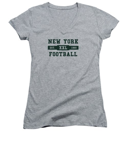 Jets Retro Shirt Women's V-Neck (Athletic Fit)