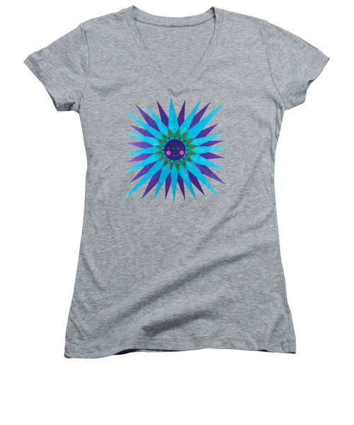 Jeweled Sun Women's V-Neck (Athletic Fit)