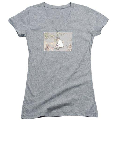 Jidai Matsuri Xx Women's V-Neck T-Shirt (Junior Cut) by Cassandra Buckley