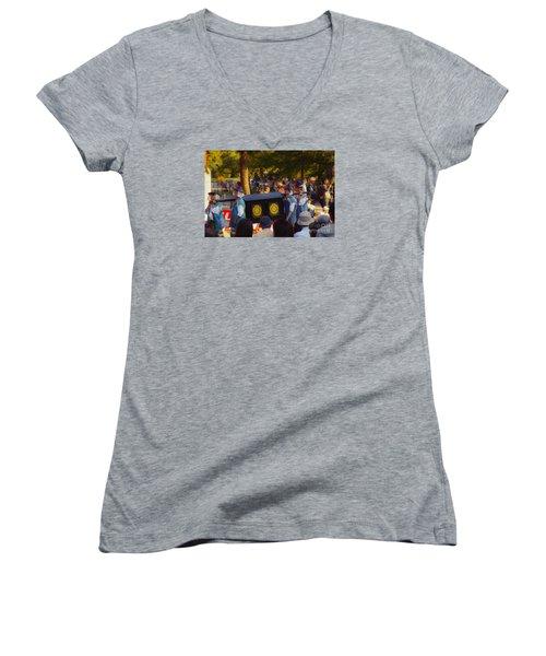Jidai Matsuri Xxiii Women's V-Neck T-Shirt (Junior Cut) by Cassandra Buckley