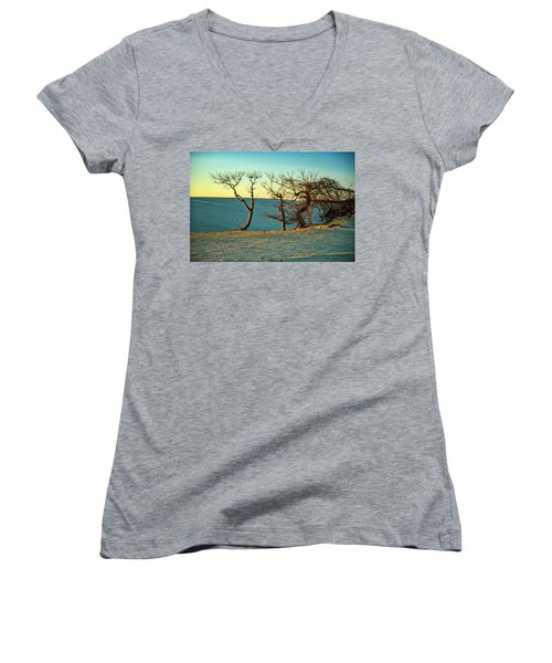 Jockey Ridge Sentinels Women's V-Neck T-Shirt (Junior Cut)
