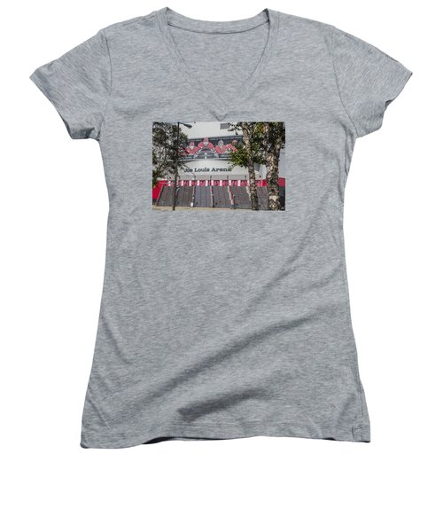 Joe Louis Arena And Trees Women's V-Neck