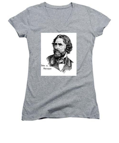 John C. Fremont Women's V-Neck T-Shirt