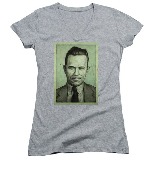 John Dillinger Women's V-Neck T-Shirt