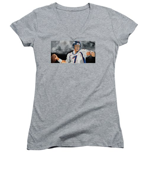 John Elway 2  Women's V-Neck (Athletic Fit)