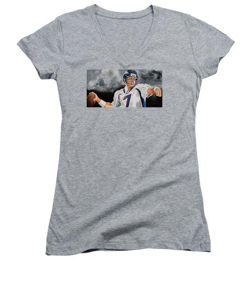 John Elway 2  Women's V-Neck T-Shirt