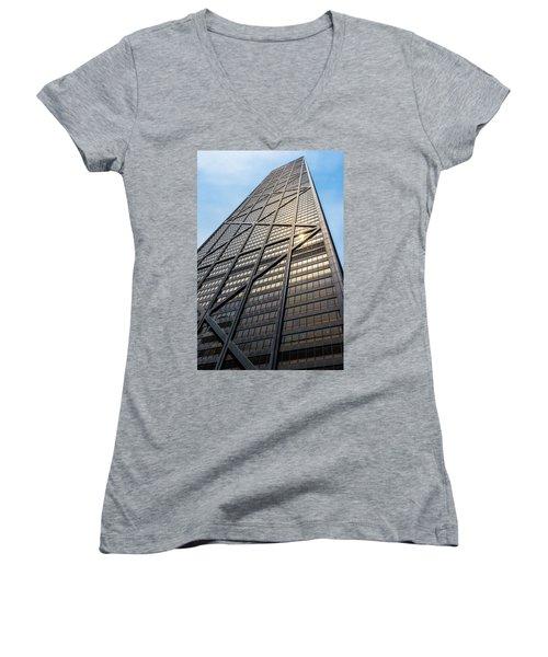 John Hancock Center Chicago Women's V-Neck T-Shirt