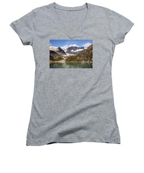 John Hopkins Glacier 5 Women's V-Neck T-Shirt