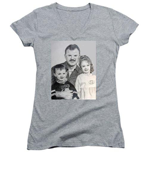 John Megan And Joey Women's V-Neck T-Shirt (Junior Cut) by Stan Hamilton