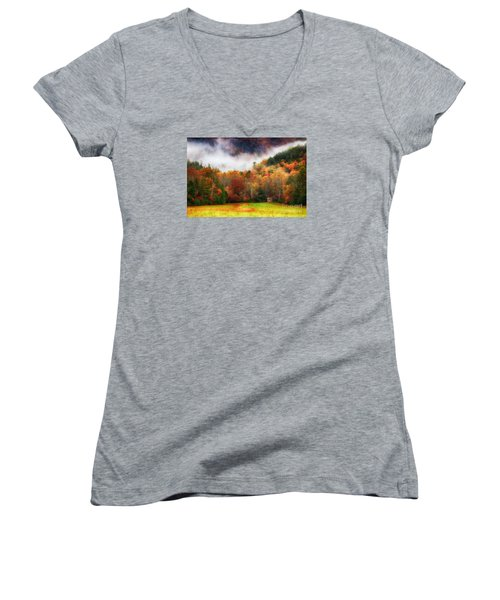 John Oliver's Women's V-Neck T-Shirt (Junior Cut) by Geraldine DeBoer