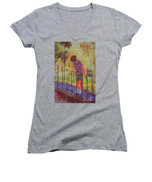 John's Reflection Women's V-Neck