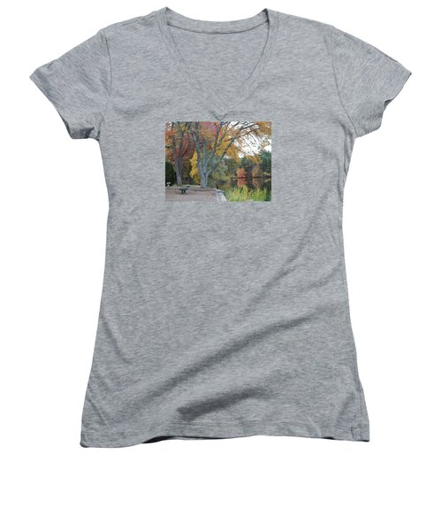 Johnson's Pond Rest Area Women's V-Neck T-Shirt