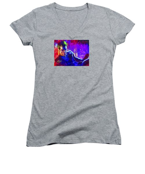 Joker's Grin Women's V-Neck