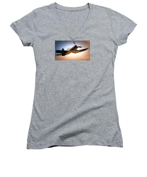 Jolly Roger Sortie Women's V-Neck T-Shirt