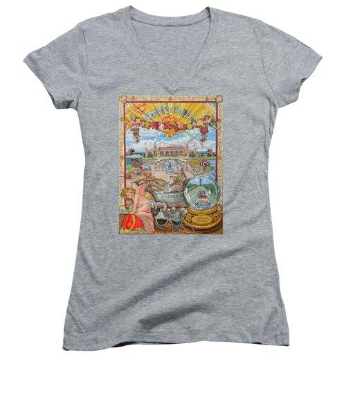 Jones Beach Love Story Women's V-Neck T-Shirt